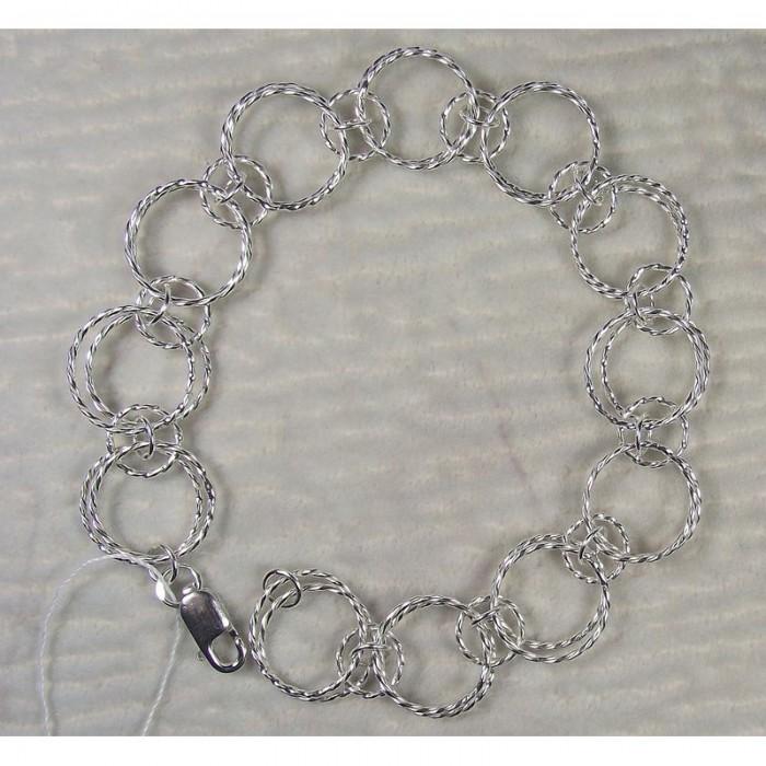 Ажурный серебряный браслет