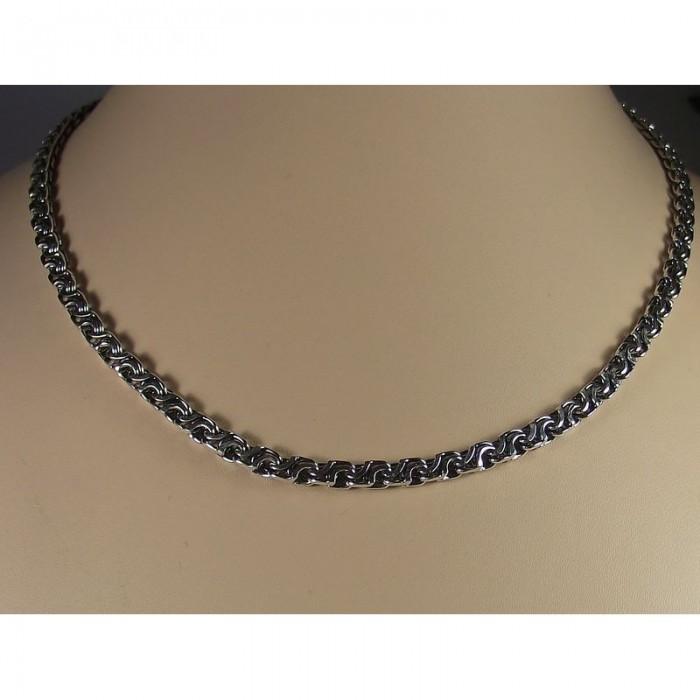"""Серебряная цепочка """"Кавай"""" 60 размера  шириной 5,2 мм."""