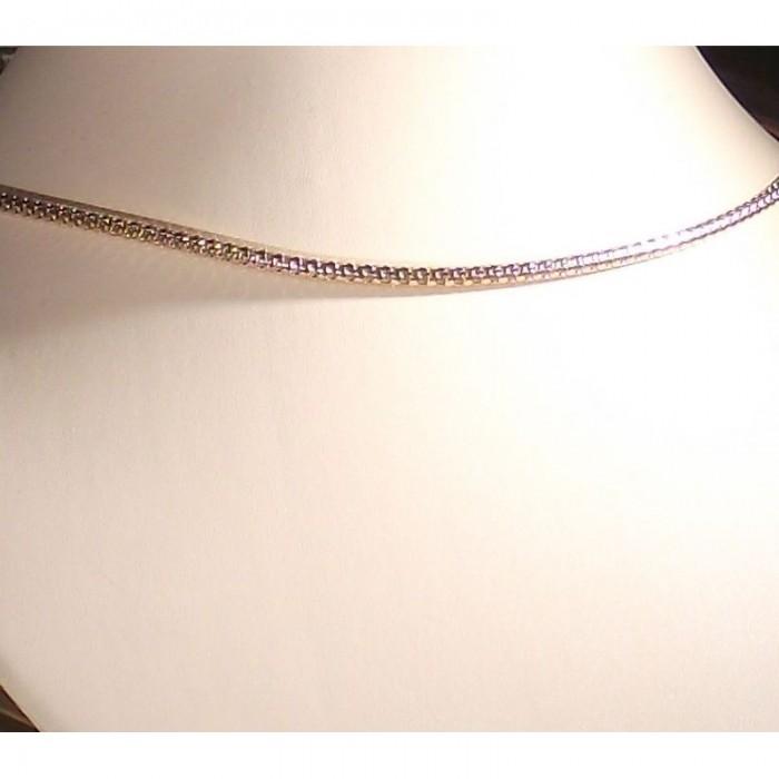 "серебряная цепочка ""Снейк"" 550 размера"
