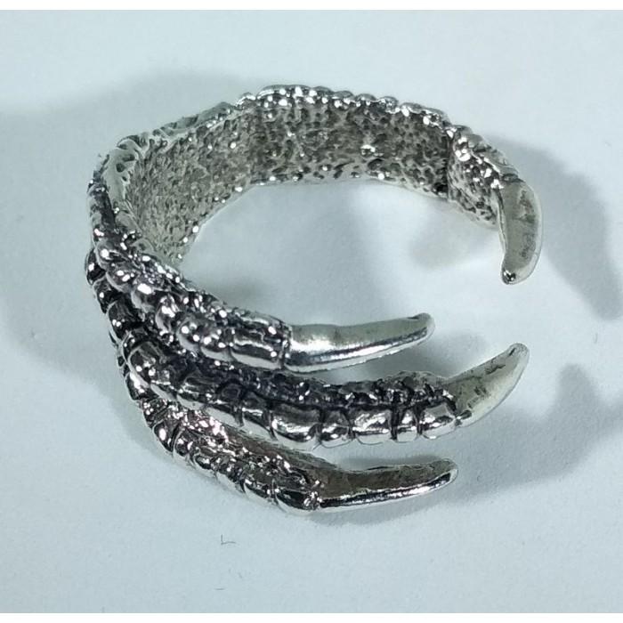 "Серебряное кольцо ""Коготь дракона"""