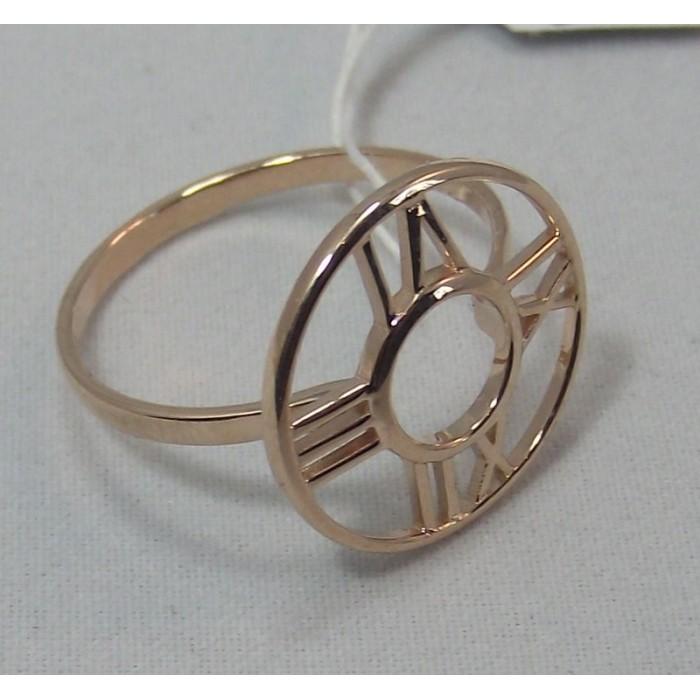 Золотое кольцо с  циферблатом