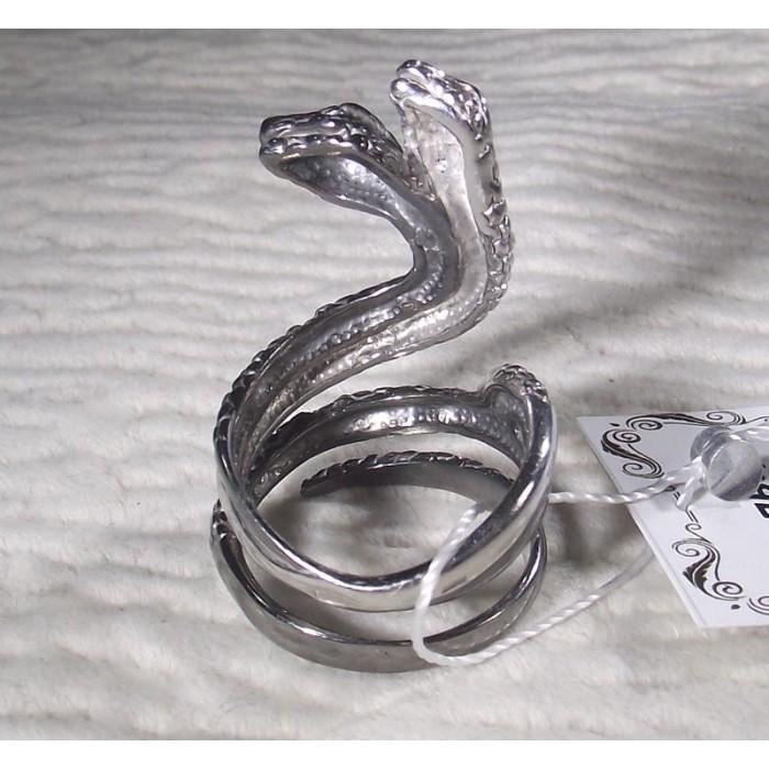 """Серебряное кольцо """"Сплетенные змеи"""""""