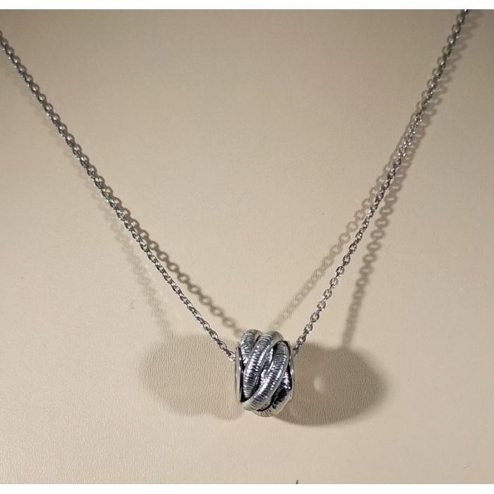 Серебряное колье с шармом