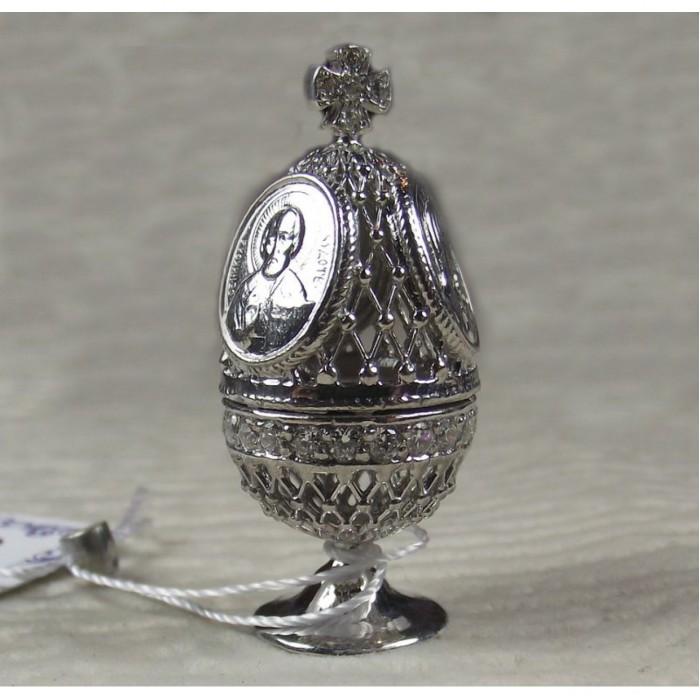 Серебряное пасхальное яйцо
