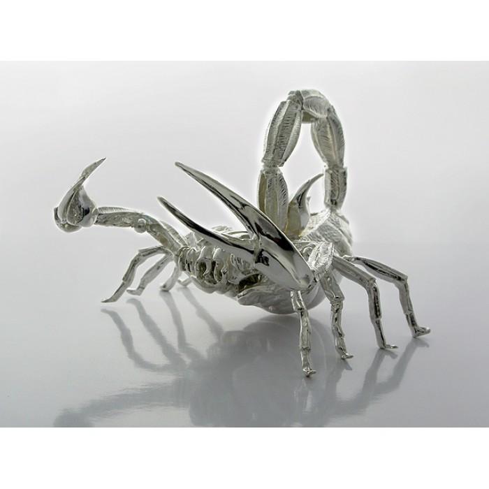 "Серебряная подставка для ручек ""Скорпион"""
